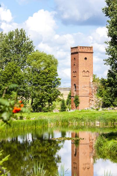 ruins of Kiszewski Castle, Pomerania, Poland Stock photo © phbcz