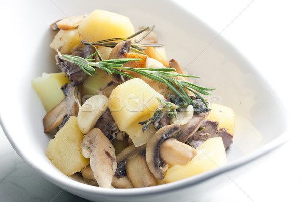 potatoes with chicken meat and Stock photo © phbcz