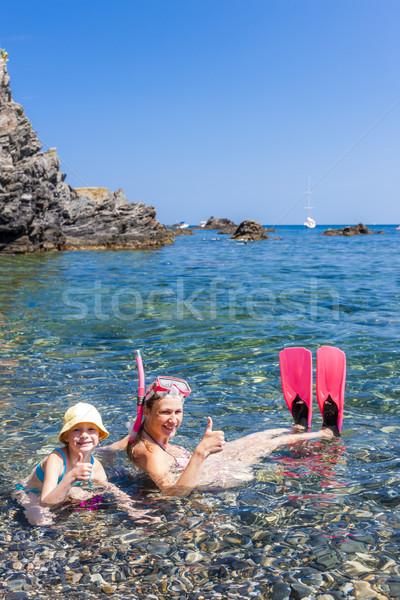 Mediterráneo mar Francia nina verano Foto stock © phbcz
