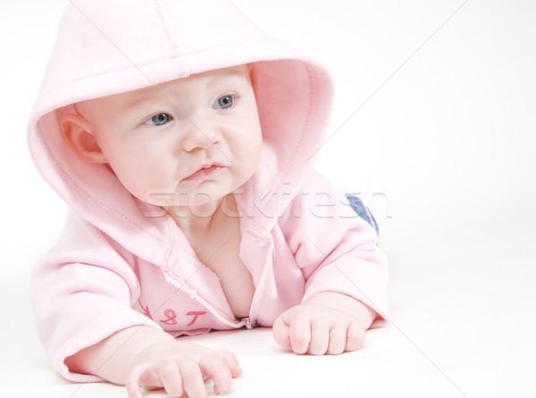 Stock fotó: Lánycsecsemők · portré · gyerekek · gyermek · lányok · gyerek