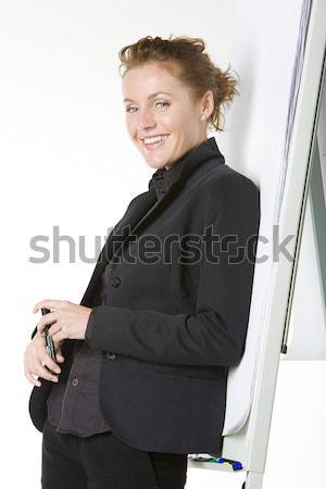 деловая женщина женщину работу костюм рабочих Сток-фото © phbcz