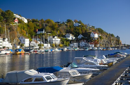 harbour of Risor, Norway Stock photo © phbcz