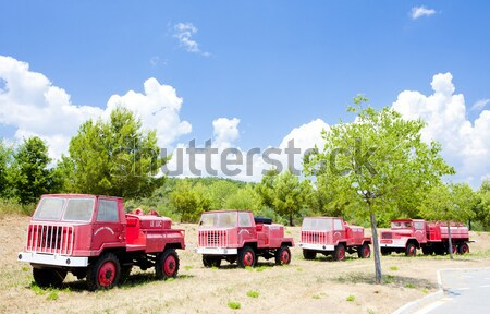 fire engines, Provence, France Stock photo © phbcz