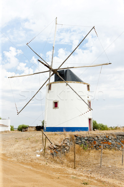 Windmolen Portugal architectuur Stockfoto © phbcz