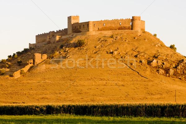 castle in Medellin, Badajoz Province, Extremadura, Spain Stock photo © phbcz
