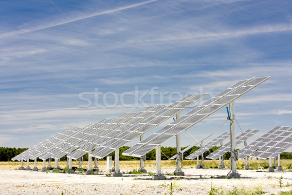 solar panels, Castile and Leon, Spain Stock photo © phbcz