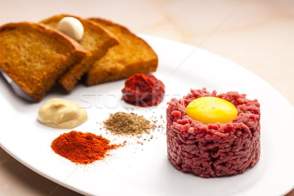 филей стейк мяса тоста еды блюдо Сток-фото © phbcz