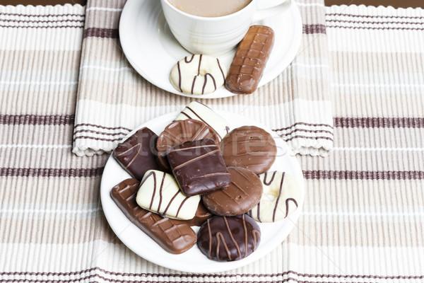 Tasse café biscuits dessert sweet objet Photo stock © phbcz