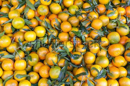 tangerins, market in Forcalquier, Provence, France Stock photo © phbcz