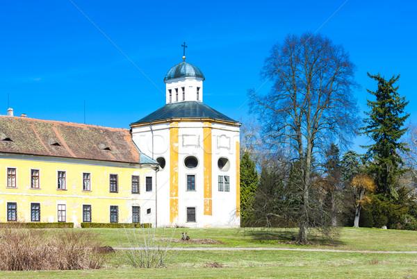 Palais République tchèque château architecture extérieur à l'extérieur Photo stock © phbcz