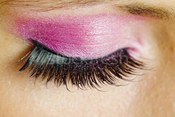 Stok fotoğraf: Detay · makyaj · kadın · göz · gözler · güzellik