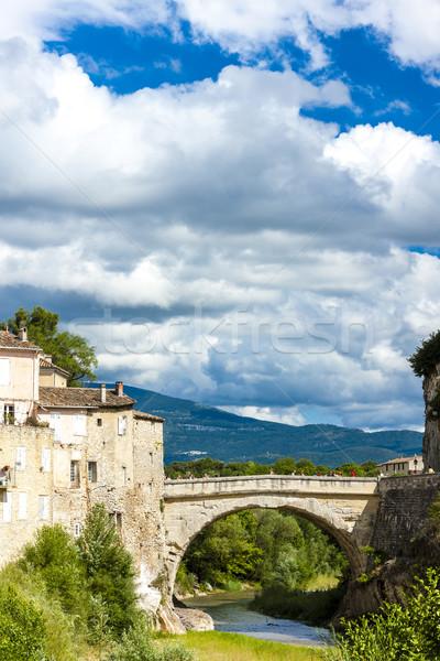 Franciaország híd folyó építészet Európa történelem Stock fotó © phbcz