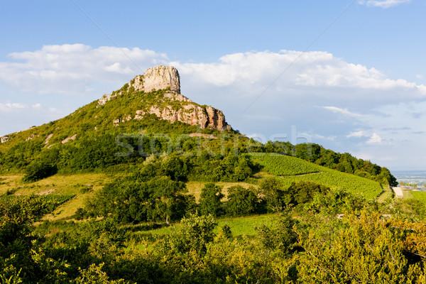 Solutre Rock, Burgundy, France Stock photo © phbcz