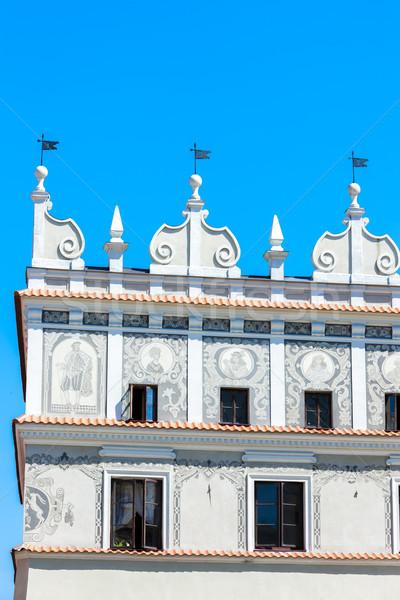 Huis oude binnenstad Polen gebouw architectuur geschiedenis Stockfoto © phbcz