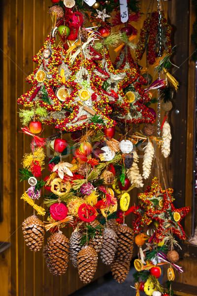 Noël marché Vienne Autriche objet choix Photo stock © phbcz