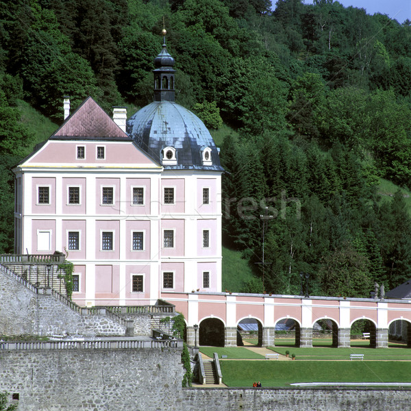 castle and chateau Becov nad Teplou, Czech Republic Stock photo © phbcz