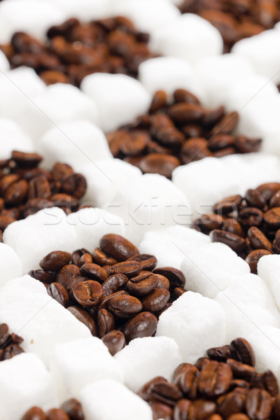 still life of coffee and sugar Stock photo © phbcz