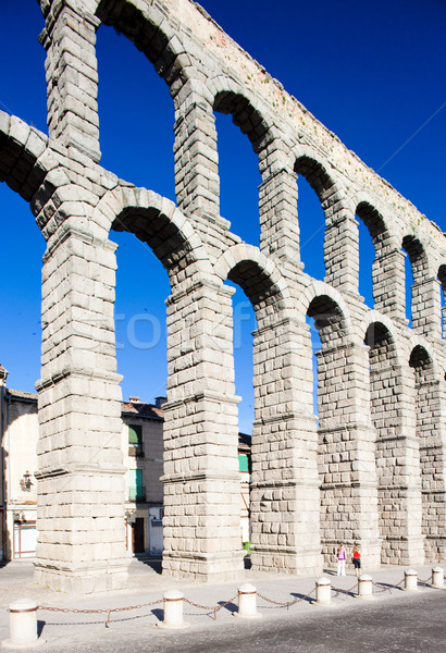 Roman aqueduct, Segovia, Castile and Leon, Spain Stock photo © phbcz