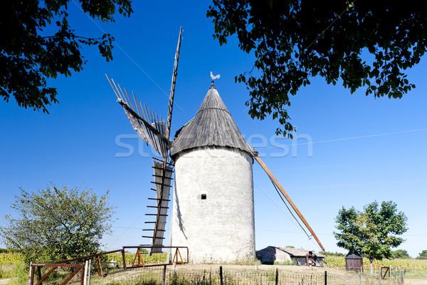 windmill, Vensac, Aquitaine, France Stock photo © phbcz
