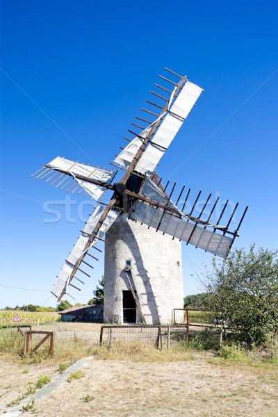 Stock photo: windmill, Vensac, Aquitaine, France