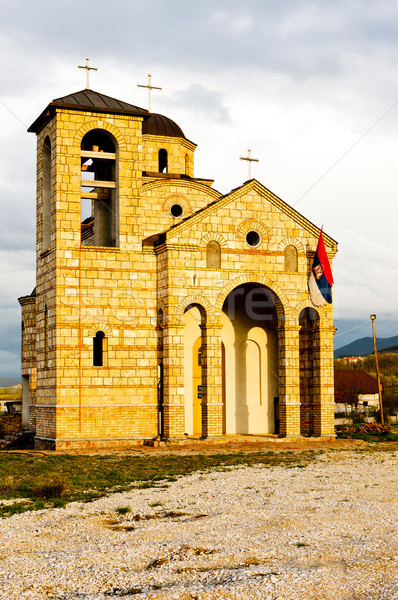 church near Sargan, Serbia Stock photo © phbcz
