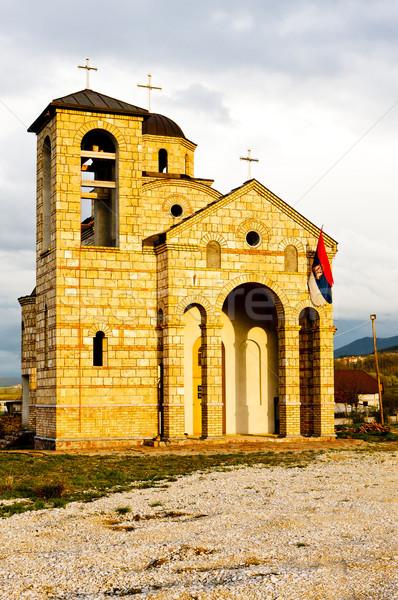 Igreja Sérvia arquitetura ao ar livre e república Foto stock © phbcz