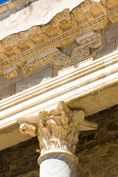detail of Roman Theatre, Merida, Badajoz Province, Extremadura,  Stock photo © phbcz