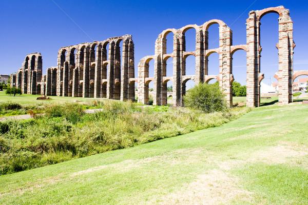 Aqueduct of Los Milagros, Merida, Badajoz Province, Extremadura, Stock photo © phbcz