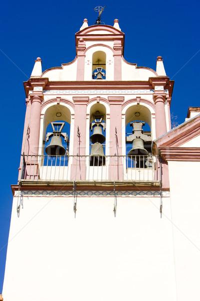 Fasada Hiszpania budynku architektury miasta dzwon Zdjęcia stock © phbcz
