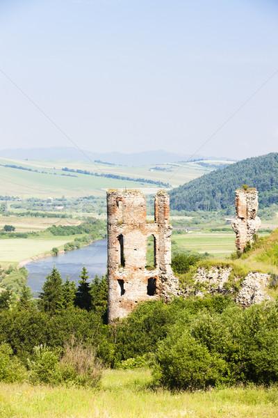 Ruiny zamek Słowacja budynku podróży architektury Zdjęcia stock © phbcz