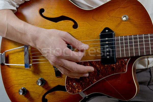 musician playing the guitar Stock photo © philipimage