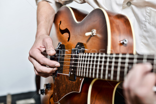 пальцы гитарист джаза звук Сток-фото © philipimage