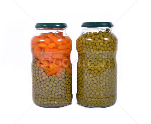 jar of peas and carrots Stock photo © philipimage