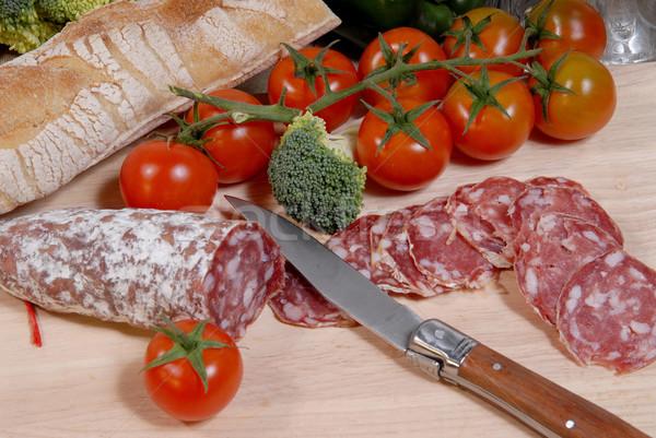 sausage cut into slices Stock photo © philipimage