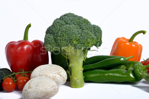 broccoli surround different seasonal vegetables Stock photo © philipimage