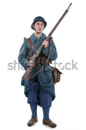 americn soldier and his M1 carbine Stock photo © philipimage