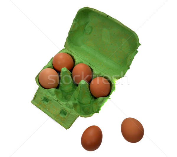 Altı yumurta yeme Stok fotoğraf © philipimage