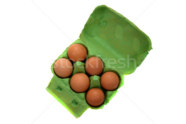 six eggs Stock photo © philipimage
