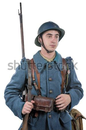 young Soviet soldier with his ppsh 41 Stock photo © philipimage