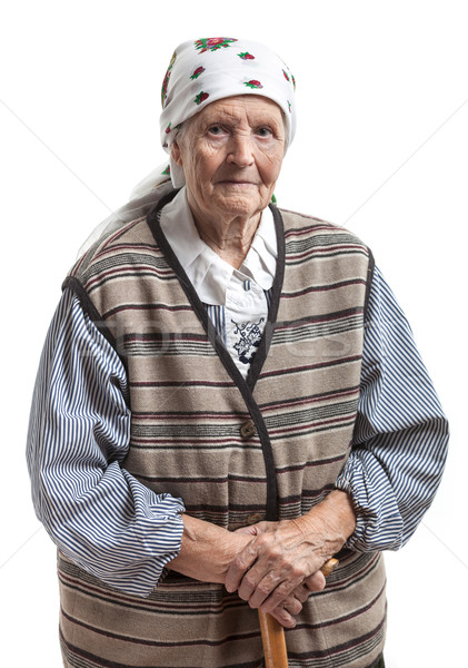 Retrato senior mulher olhando câmera sorridente Foto stock © photobac