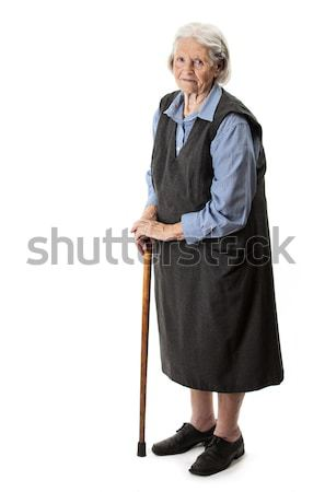 Old woman with a cane over Stock photo © photobac