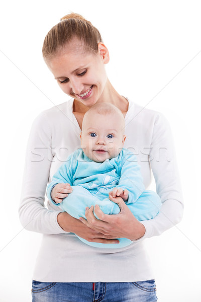 Gelukkig jonge kaukasisch vrouw baby zoon Stockfoto © photobac