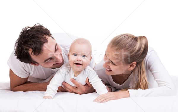 Genç aile bebek erkek beyaz Stok fotoğraf © photobac