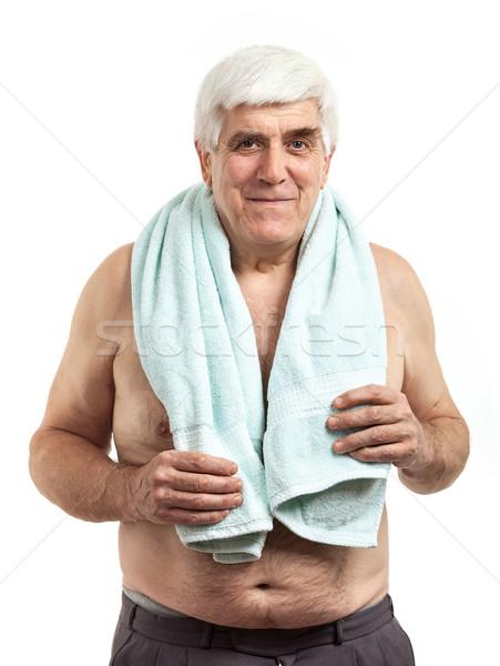 Retrato toalha isolado Foto stock © photobac