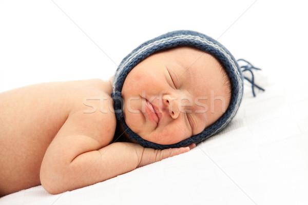 Recém-nascido bebê menino branco mão Foto stock © photobac