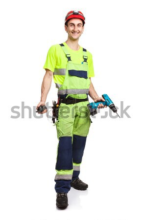 Handsome contractor holding electric screwdriver Stock photo © photobac