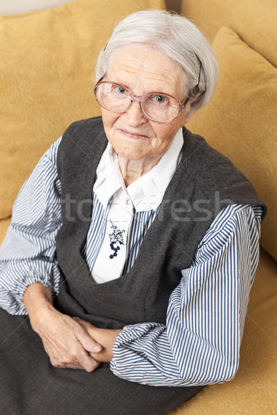 Portrait of a senior woman looking at the camera Stock photo © photobac