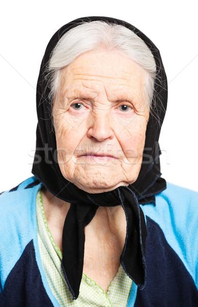 肖像 シニア 女性 白 顔 目 ストックフォト © photobac