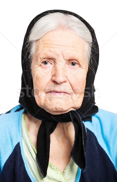 Retrato senior mulher branco cara olhos Foto stock © photobac