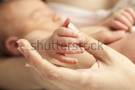 Mano madres pulgar primer plano vista Foto stock © photobac
